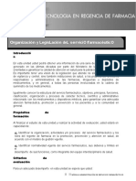 (730017904) Organización y Legislación Del Servicio Farmaceutico