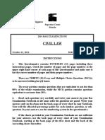2014 Civil Law Bar Exam.docx