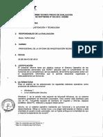 informe tecnico previa evaluacion
