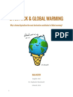 Livestock & Global warming (argument essay + annotated bibliography)