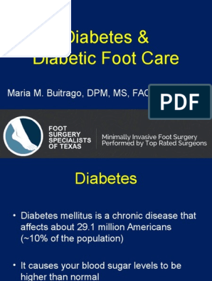 Diabetic Foot Care Peripheral Neuropathy Diabetes Mellitus