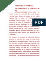 DELITOS CONTRA EL PATRIMONIO Para Adjuntar Al Trabajo de Luis Bramont-Arias Torres