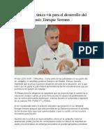2016-04-07 Educación, única vía para el desarrollo del país- Enrique Serrano