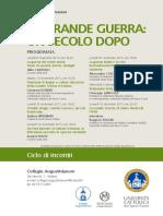 ciclo conferenze grande guerra augustinianum 2015