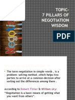 7 Pillars of Negotiation