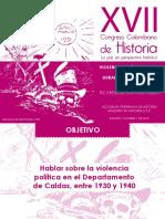 """Violencia Política Inicial en Caldas, Durante """"La Violencia"""" 1930 - 1940"""