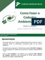eBook Como Fazer o Cadastro Ambiental Rural Parte 2 Cadastro