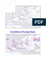 european countries and physical features