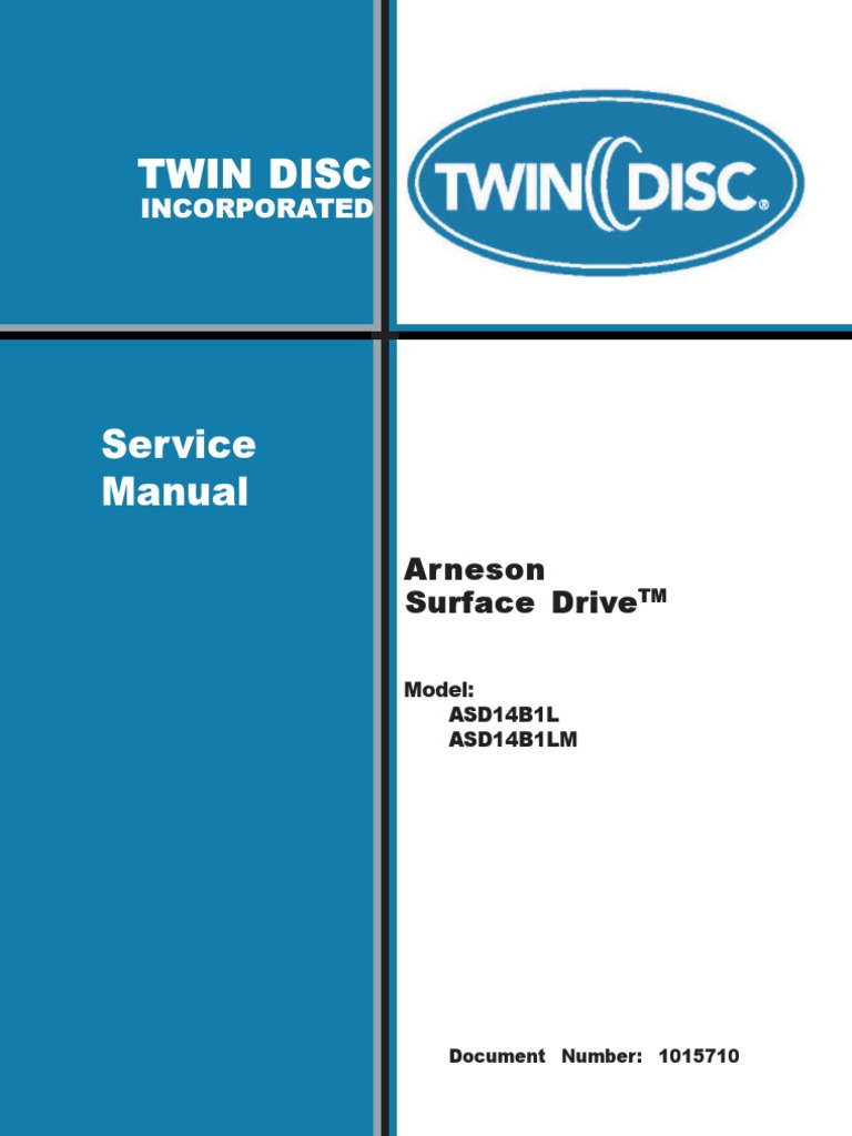ASD 14 Service & Installation Manual | Bearing (Mechanical) | Propeller