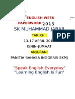 Paperwork English Week
