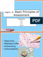 TSL 3123 Topic 4 Basic Principles of Assessment