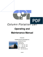 Column Flotation Cell. Operating and Maintenance Manual - Canadian Process Technologies Inc. (2002)