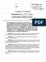 Oakland Rent and Eviction Moratorium