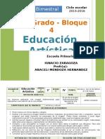 Plan 2do Grado - Bloque 4 Educación Artística