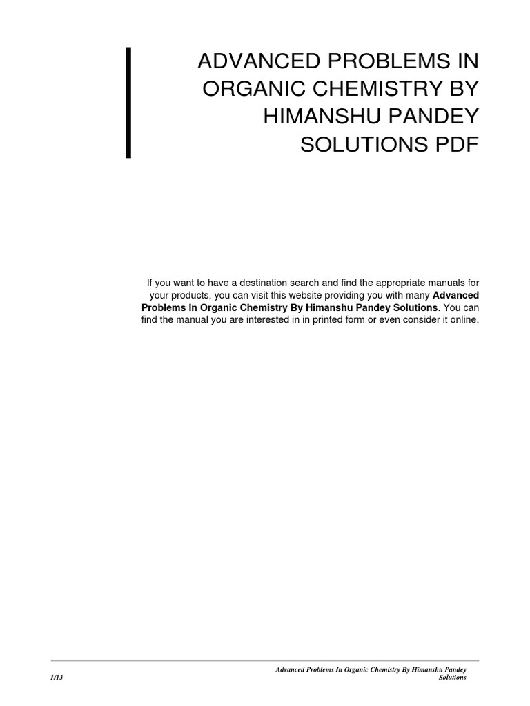 Advanced problems in organic chemistry by himanshu pandey solutions advanced problems in organic chemistry by himanshu pandey solutions e books online and offline fandeluxe