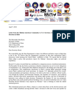Letter From Haitian American Community to Kerry on Elections in Haiti