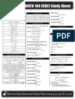 Calculus Formula