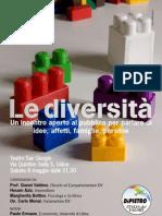 Le diversità. Convegno, 8 maggio, Udine