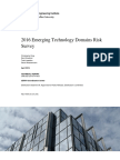 2016 Emerging Technology Domains Risk Survey