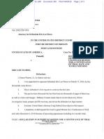 04-08-2016 ECF 380 USA v ERIC FLORES - Declaration by Ernest Warren, Jr. Re Motion to Continue