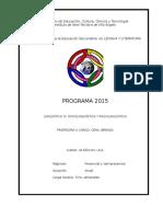 Ling. IV 2015 Programa