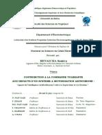 CONTRIBUTION A LA COMMANDE TOLERANTE AUX DEFAUTS D'UN SYSTEME A MOTORISATION ASYNCHRONE