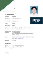 Khin Pyone Kyaw CV