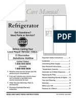 241857500 En Refrigerator Side by Side READ AND SAVE THESE INSTRUCTIONS Got Questions? Need Parts or Service?