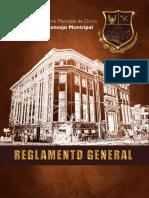 Reglamento General Del Concejo Municipal de Oruro