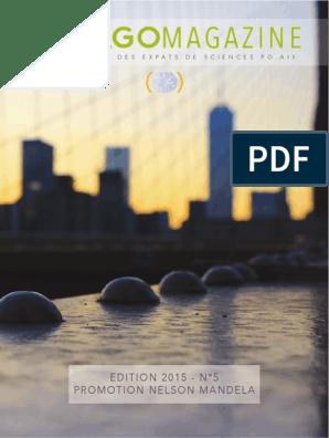 Vojagô, le magazine des expats de Sciences Po Aix, édition