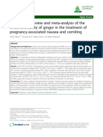 A Systematic Review and Meta-Analysis of the Effect and Safety of Ginger in the Treatment of Pregnancy-Associated Nausea and Vomiting.