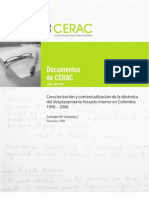 Caracterización y contextualización de la dinámica del desplazamiento forzado interno en Colombia 1996 – 2006