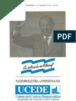 Plataforma Electoral UCEDE