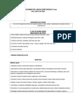Plano de Ensino de Lingua Portuguesa Rascunho 2º Ano