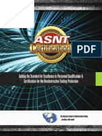ASNT Certification Brochure