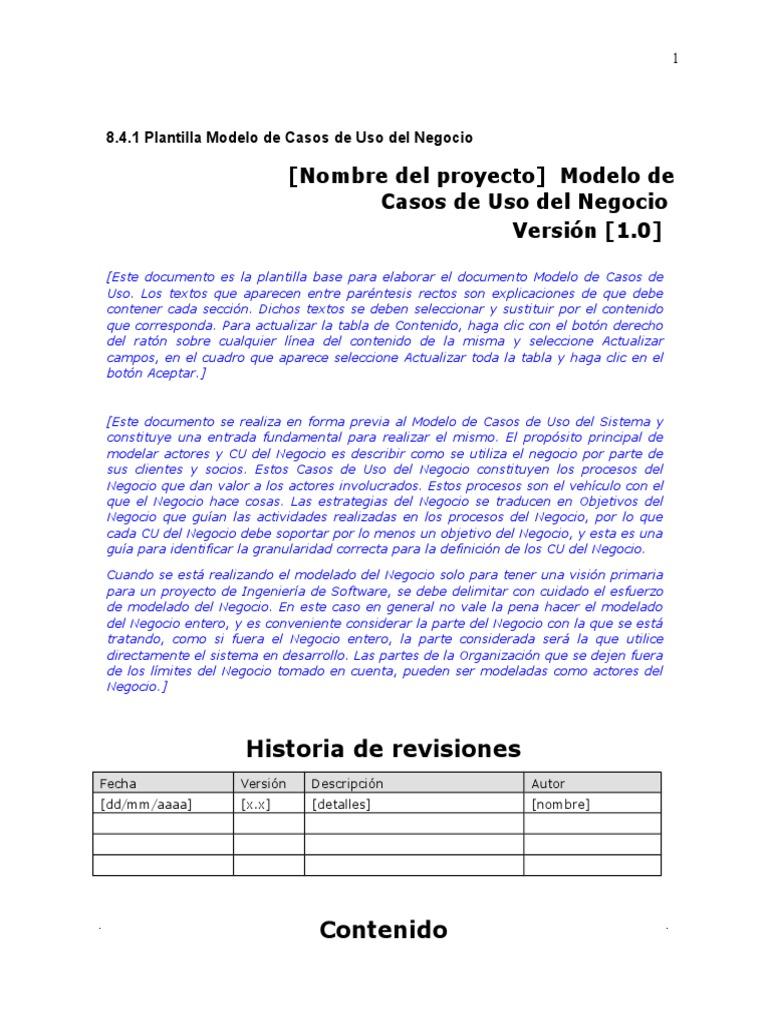 Planillas de RUP (Español)