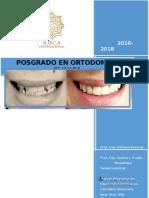 2016 2018 Posgrado ORTODONCIA CLINICA Informacion Alumnos