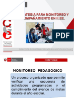Estrategia para monitoreo y acompañamiento en I.E.