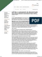 Derrida e o Pensamento Da Desconstrução _ Revista IHU Online #333