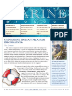 Marine Biology Informational Booklet 2011