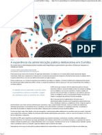 A Experiência Da Administração Pública Deliberativa Em Curitiba _ Artigos _ Gazeta Do Povo
