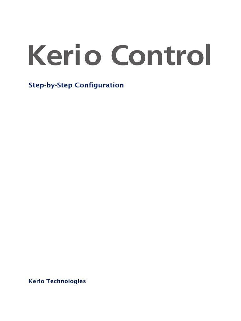 Kerio Control Stepbystep En 740 5027 P1 Ip Address Computer