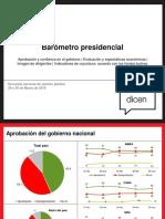 Barómetro Presidencial - Marzo 2016