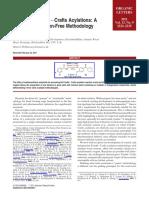 """Greener"" Friedel−Crafts Acylations. A Metal- and Halogen-Free Methodology"