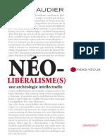Serge Audier Néo Libéralisme Grasset (2012)