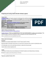 3. Preparing and Using Cobalt Chloride Indicator Papers