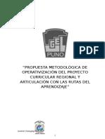 Metodologica de Operativizacion del PCR