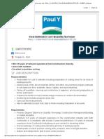 Cost Estimator Cum Quantity Surveyor Job - PAUL Y