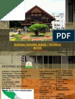 """Rumah adat Aceh """"Krong Bade"""""""