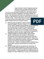 Gender Budget
